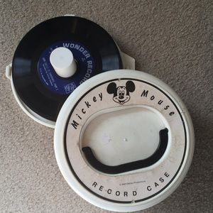 Disney 45 record case with records